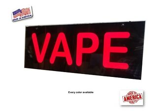 Vape Sign Electronic Smoke Sign Led Light Sign Box 12 x30 x2