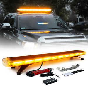 Xprite Amber 88 Led 47 28 Modes Roof Top Emergency Led Strobe Light Bar