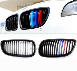 New Matte Black M color Grille Grill For Bmw 07 10 E92 E93 328i 335i 2dr