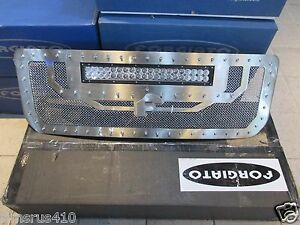 New Forgiato Polished Grille With Led 2014 2015 2016 Gmc Siera 1500 Pick Up
