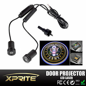 Pair Led Car Door Laser Projector Ghost Shadow Step Light U S Army Logo