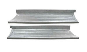 Ford F 1 Pickup Truck Steel Running Board Set Ribbed 1948 1952