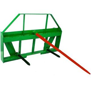 Titan Hay Spear Attachment Fits John Deere Global Euro Style Coupler Loaders