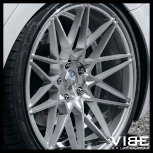 19 Klutch Km20 Silver Deep Concave Wheels Rims Fits Infinti G35 Coupe