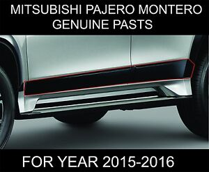 Mitsubishi Montero Pajero Sport Side Doors Body Molding Trims Genuine Parts 2018