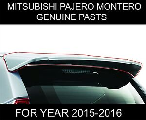 Mitsubishi Montero Pajero Sport Tailgate Spoiler Colour Match Genuine Parts 2018