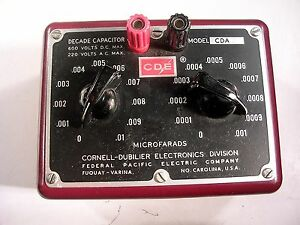 Cornell dubilier Decade Capacitor Cda2 Tested Good