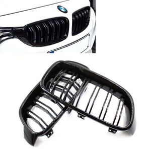 Gloss Black Kidney Euro Sport Front Hood Grill For 12 15 Bmw 3series F30 31 M3