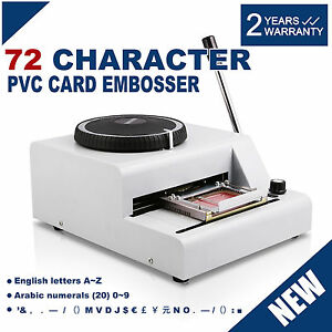 72 Character Manual Embossing Printer Credit Card id vip pvc Embosser Machine