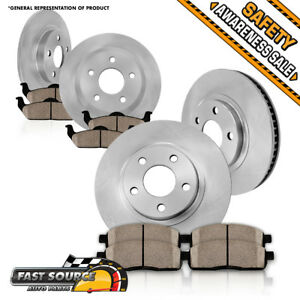 Front Rear Brake Rotors Ceramic Pads Fits 2013 2014 2015 2016 2017 Nissan Altima