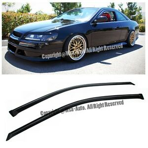 For 98 02 Honda Accord 2dr Coupe Jdm Side Windows Visor Deflector Rain Guard
