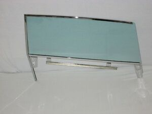 61 64 Buick Chev Olds Pontiac Convert Door Glass Assembled Left Driver Green