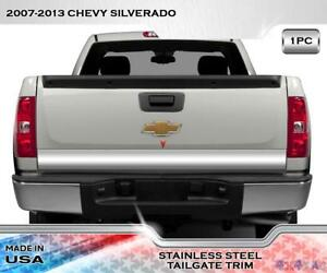 Stainless Steel 4 1 2 Wide Tailgate Trim 1pc Fits Chevy Silverado 07 13