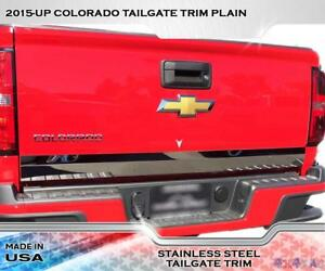 Stainless Steel 4 Wide Tailgate Trim 1pc Fits Chevy Colorado 15 16