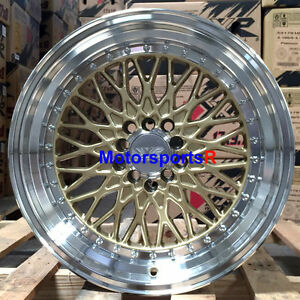 Xxr 536 18 X 9 18 Gold Deep Step Lip Wheels Rims 5x114 3 Stance Honda Civic Si