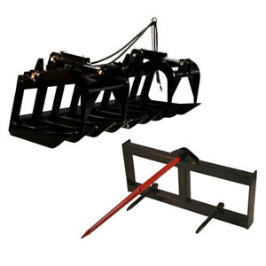 Titan 60 Grapple Bucket Tractor Hay Spear Attachment Bobcat Kubota Skid Steer
