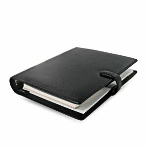 Filofax Finsbury A5 Organiser Black Textured Zipped Leather Tablet Case Ipad Air