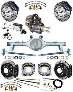 New Suspension Wilwood Brake Set currie Rear End posi trac Gear 78 88 Gm blk d