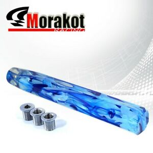 Universal Auto 12 Long 300mm Vip Extended Crystal Fusion Shift Knob Bluemoon