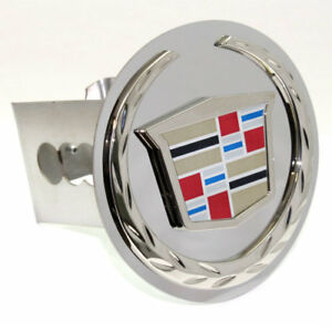 Cadillac Logo Chrome Tow 2 Receiver Hitch Cover Real Stainless Steel Plug