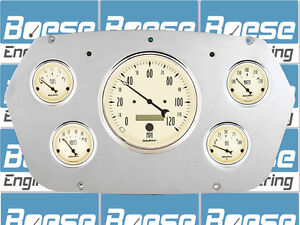 59 60 Dodge Truck Auto Meter Antique Beige Gauges 1959 1960