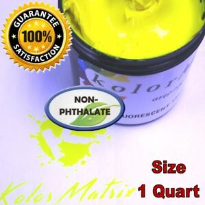 Gen Fluorescent Yellow Premium Plastisol Screen Print Ink Non Phthalate Quart