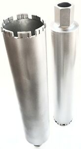 4 Laser Welded Wet Core Bit Manufactured For Reinforced Concrete 2 Pack