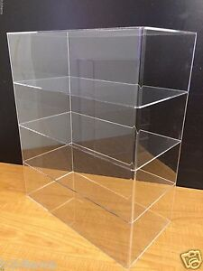 Acrylic Counter Top Display Case 16 X 8 X 19 Show Case Cabinet Shelves