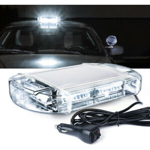 Xprite Vehicle Roof Top 40 Led Strobe Light White Emergency Hazard Warning Flash