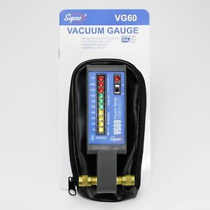 Vg60 Supco Electronic Vacuum Gauge 50 To 5 000 Micron Led Display