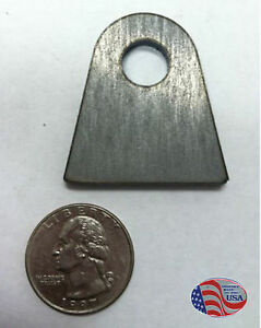 10 Pack Flat Weld Tab 7 16 Hole 1 1 8 Height 1 8 Thick Laser Cut From Mild Steel