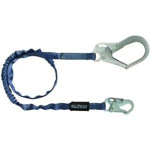 Falltech Fall Protection 6 foot Shock Absorbing Lanyard W rebar Hook 21337