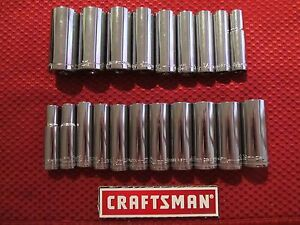 Craftsman 3 8 Drive 12 Point Deep Sockets Metric Sae Choose Size New