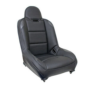 Off Road Bucket Front Or Rear Seat Black Vinyl Leather Like 4 Sand Car Buggy