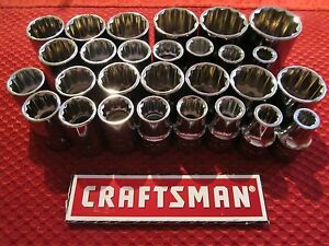 Craftsman 1 2 Drive 12 Point Sockets Metric And Sae Choose Size New