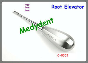 2 Kopp Root Elevator 3mm 6mm Dental Surgical Instruments C 0352