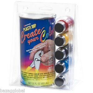 Create Your Color Plasti Dip Kit Clear 22oz Tints Red yellow black blue white