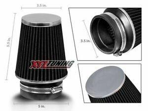 3 5 Black Narrow High Flow Cold Air Intake Cone Replacement Dry Filter