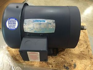 Leeson Motor 114618 00 1 2 Hp 850 Rpm 60hz And A Three Phase New