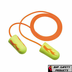 3m Ear Yellow Neon Blasts Foam Ear Plugs 311 1252 With Cord 200 Pair Box