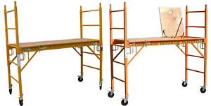 2 Mfs Scaffold Rolling Towers With U Lock 1 Hatch Deck