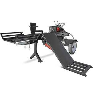 Titan Towable Hydraulic Deluxe Log Wood Splitter 37 Ton W Log Lift 420cc Engine
