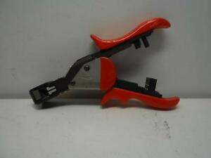 Used Gmf Ratcheting Multi wire V Crimp Tool