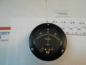 1532 Weston Meter Special Scale Minutes Synchronism Ind New Old Stock 3 1 2