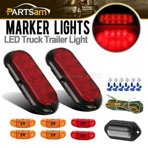 Submersible Led Trailer Light Kit s t t 2 57 Side Marker license Lamp W harness