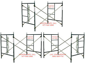 Cbm Scaffold 3 Set Of Heavy Duty 5 x5 x7 Masonry Scaffold Frames Cbm1290