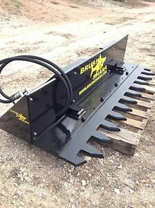 Tree Shear Tree Trimmer Brushshark Skid Steer Attachment 6 Manual Cycle