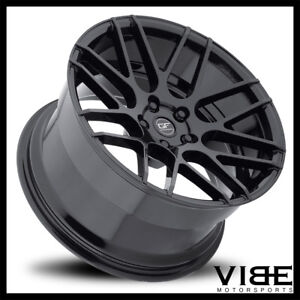 19 Mrr Ground Force Gf7 Black Concave Wheels Rims Fits Ford Mustang Gt Gt500