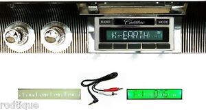 1961 1962 Cadillac Radio Custom Fit Stereo 230 No Modifications Free Aux Cable