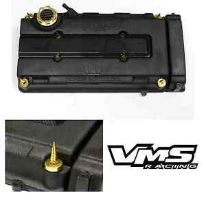 Vms Gold Engine Dress Up Kit B16 B18 Valve Cover Insert Washer Seal Spike Nut 2
